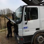 Blue Power Diesel na gaz Mercedes Actros 1836 V6 Lora Bok kabiny