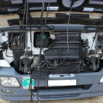 Blue Power Diesel na gaz Mercedes Actros 1836 V6 Lora Przod Wtyczki 02
