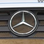 Blue Power Diesel na gaz Mercedes Actros 1836 V6 Lora Przod znaczek mercedesa