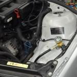 Autołukasz BMW E46 330CI Montaż instalacji gazowej komora silnika zawor gazowy