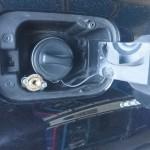 Mercedes S500  montaz LPG wlew w klapce