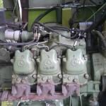 Jaguar Claas 685 kosiarka do trawy na gazo dieslu SCALMAX DDF fusion of fuels zdjecie z montazu wtryskiwaczy SCALMAX injectors placement