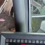 Jaguar Claas 890 sieczkarnia do kukurydzy DDF gazo diesel autolukasz zdjecie srodek przelacznik gaz benzyna