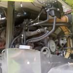 Jaguar Claas 890 sieczkarnia do kukurydzy SCALMAX DDF gazo diesel autolukasz zdjecie silnik pokrywa engine cover open